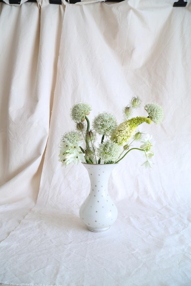 Opaline White Star Flower Vase