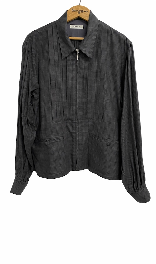 MATSUFUJI / Flannel Check Pleats Jacket(CHARCOAL)