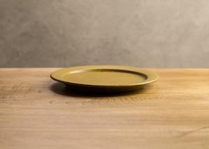 SHIROUMA 洋皿 18cm 芥子色(中皿・パン皿・ケーキ皿)/長谷川 哲也