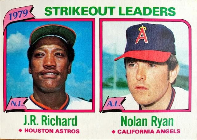 MLBカード 80TOPPS J.R.Richard & Nolan Ryan #206 ASTROS & ANGELS