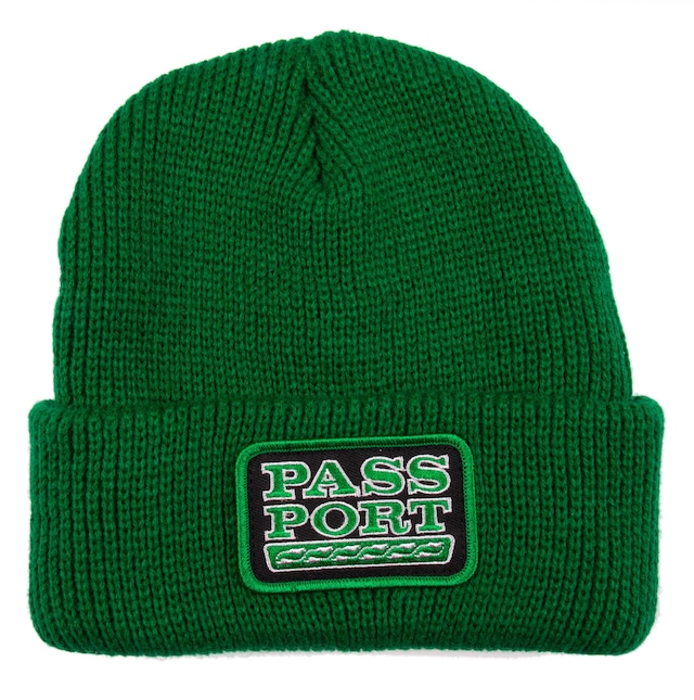 PASS~PORT AUTO PATCH BEANIE KELLY GREEN
