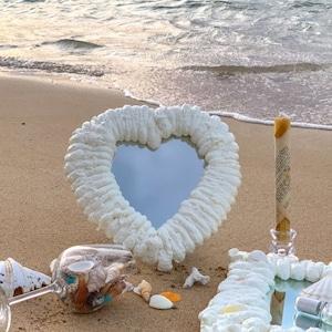 heart foam mirror / フォーム スタンド ハート ミラー クラウド 卓上 雲 鏡 韓国 インテリア 雑貨