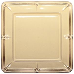 Koyo ラフィネ スクエア プレート 皿 約27.5cm シナモンベージュ 15922061