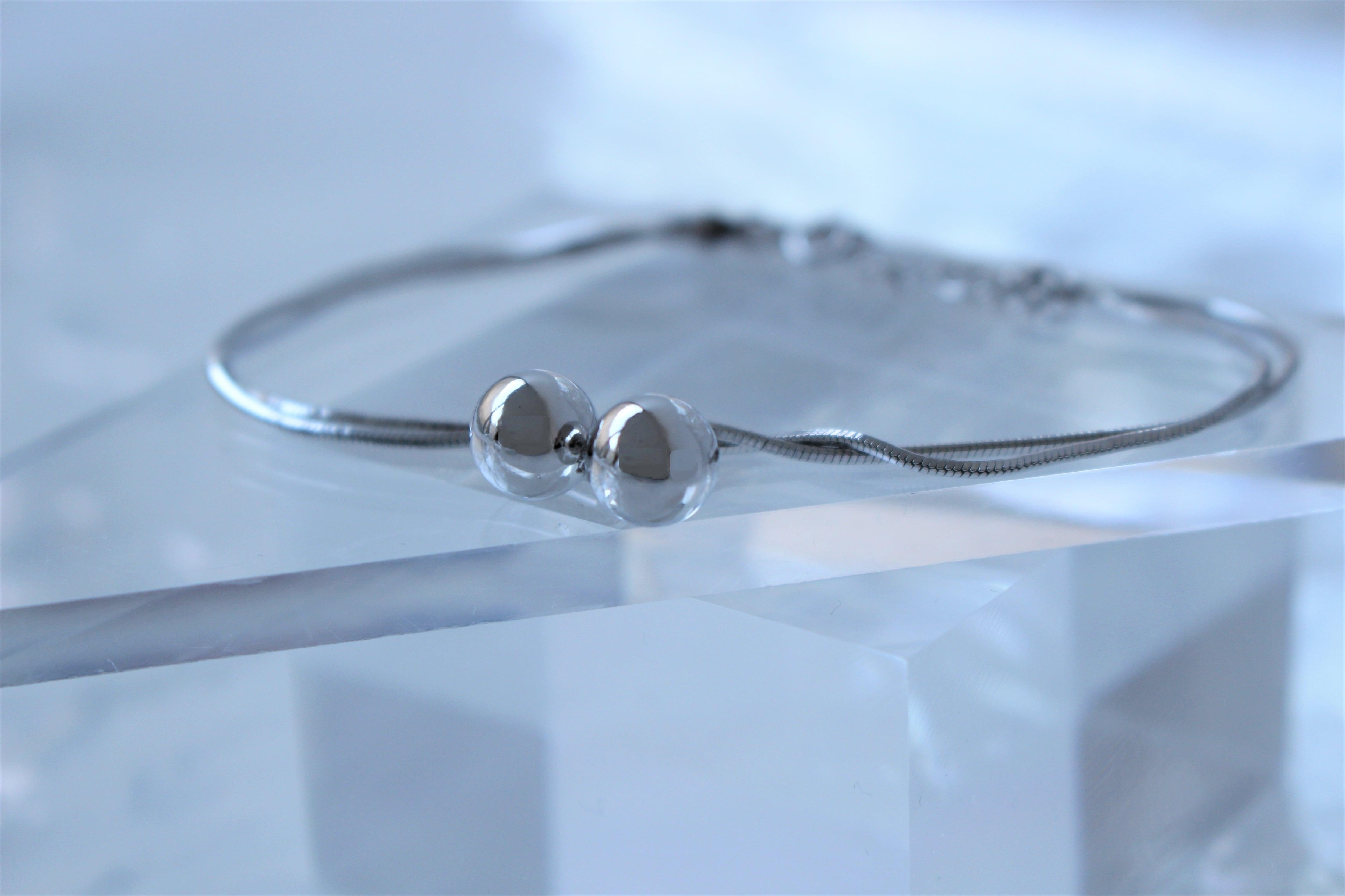 Vo.04【  BALL  】×   snake bracelet × 925silver × free