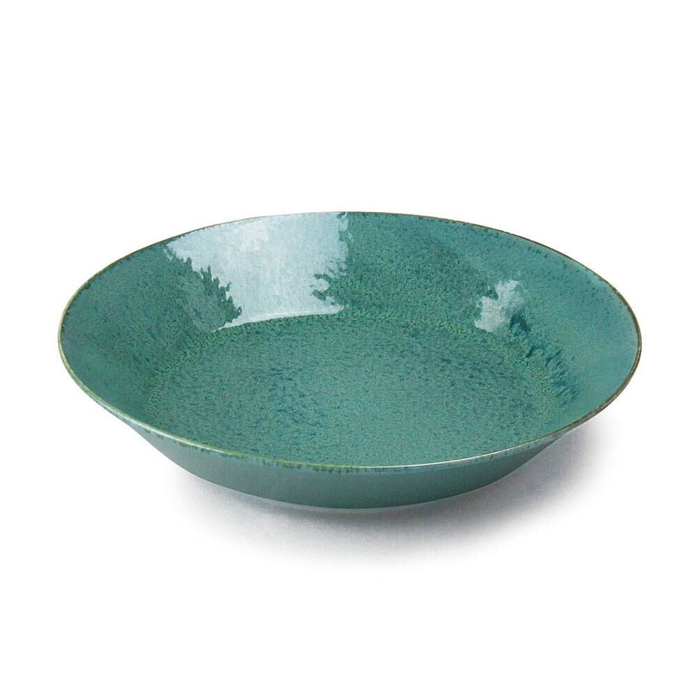 aito製作所 「ナチュラルカラー Natural Color」スタンダード カレー/パスタ皿 プレート 直径20×高さ3.8cm グリーン 美濃焼 517015