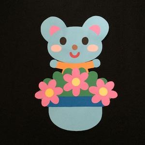 誕生表に使えるねずみ(ピンク)の壁面装飾