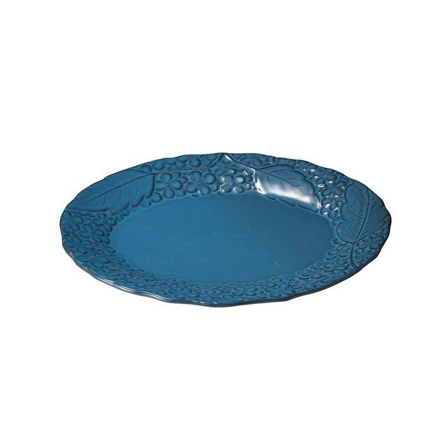 aito製作所 「リアン Lien」オーバルプレート 皿 約25×20cm ブルー 美濃焼 267834