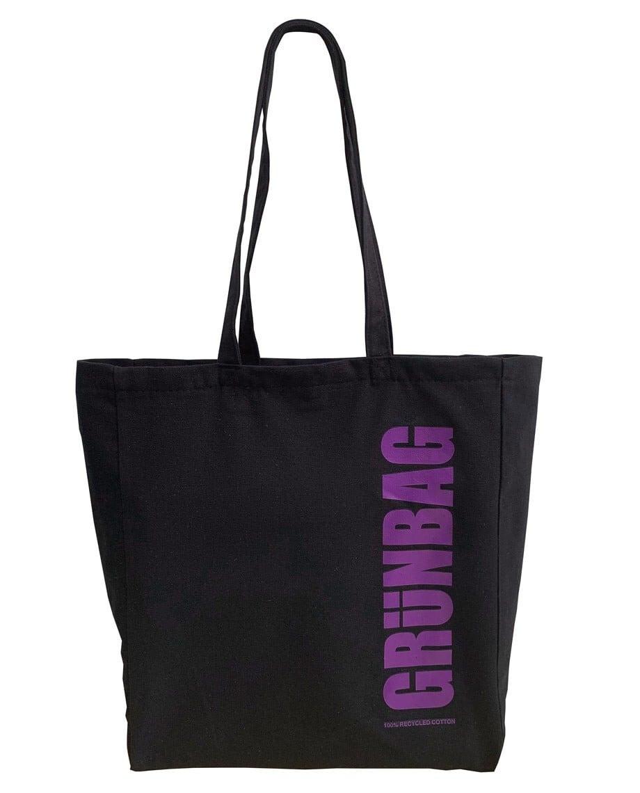 GRÜNBAG Tote Black Purple