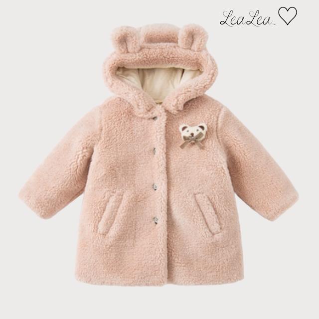 dave&bella2021AW新作♡くまみみフードつきもこもこコート(73cm-140cm)| LeaLea...♡(レアレア)-海外の子供服セレクトショップ
