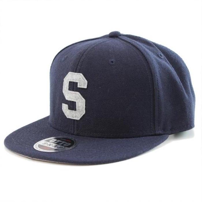 LETTER SNAPBACK CAP #NAVY