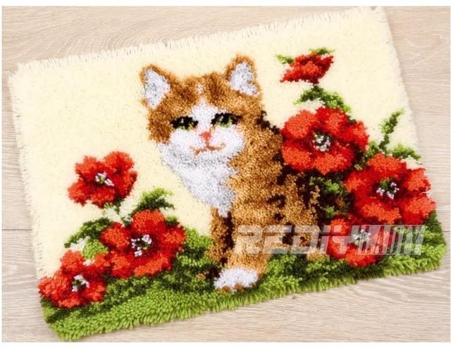 クロスステッチマット【no.016】ラッチフック刺繍