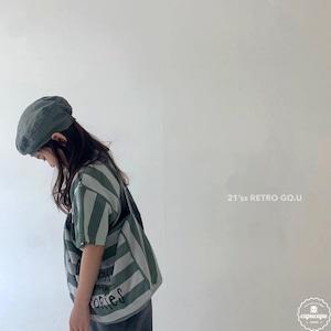 «sold out» go.u retro stripe T shirts レトロストライプTシャツ
