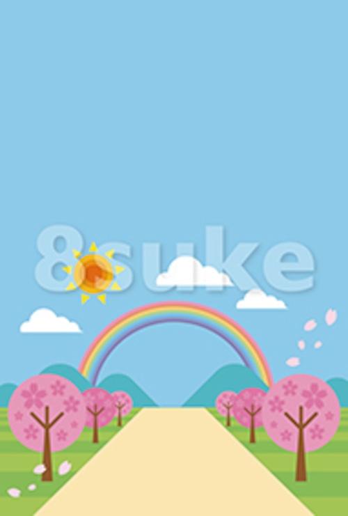 イラスト素材:春の背景・バックグラウンド(ベクター・JPG)