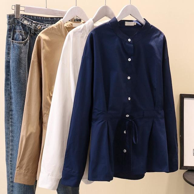 ウエストドローストリングシャツ 3colors