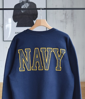 VINTAGE 90s SWEAT SHIRT UNITED STATES NAVY -MADE in USA-