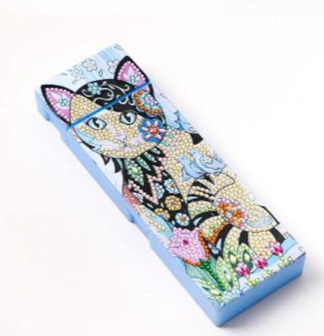 【数量限定!】ルービックビーズで作る 可愛い♪筆箱(ペンケース)猫①