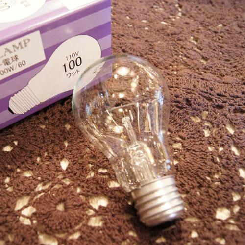 E26 100W 一般球 クリア (白熱電球)