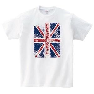 イギリス Tシャツ メンズ レディース 半袖 国旗 ゆったり おしゃれ トップス 白 30代 40代 ペアルック プレゼント 大きいサイズ 綿100% 160 S M L XL