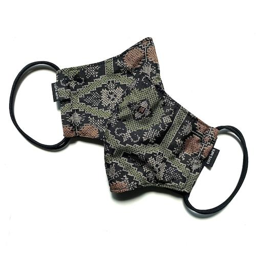【高級留袖生地使用 日本製】高級和柄マスク2枚セット w15