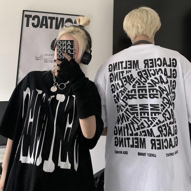 ユニセックス tシャツ 英字 オーバーサイズ トップス メンズ レディース ゆったり 大きめ カジュアル ストリートファッション TBN-642368362564