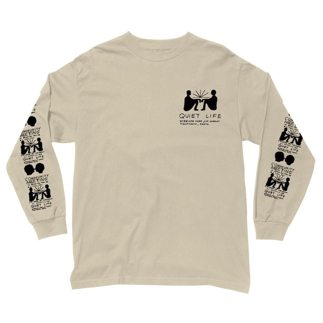 THE QUIET LIFE COMMUNITY MEETING LONG SLEEVE T SAND