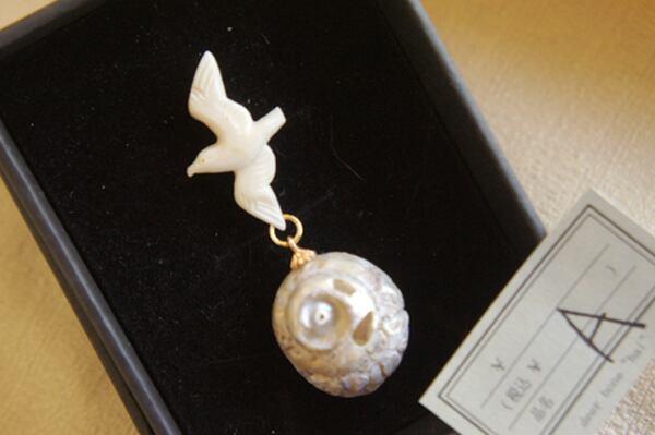 海の生物と貝殻「銀河」(カモメ)