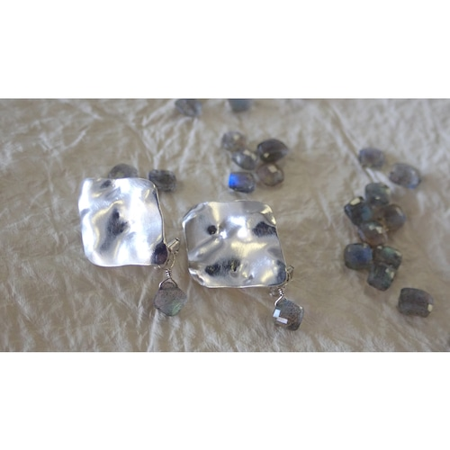 After the rain...【the Morpho】 Clip-on Earrings