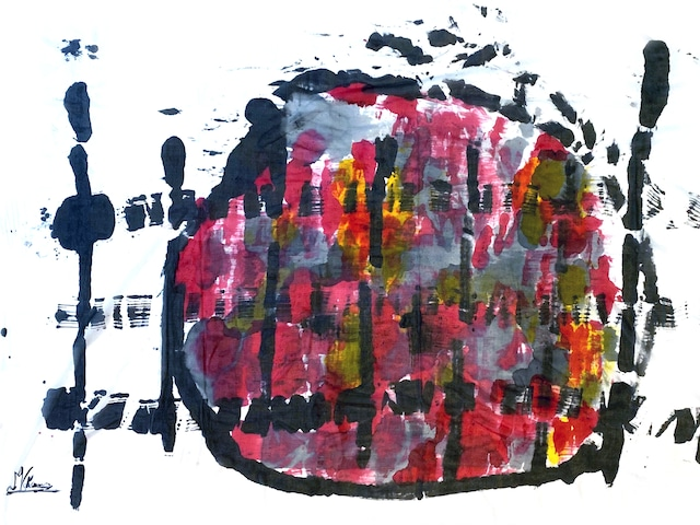 [売約済][着るアートストール]PLAIN CORNICE STOLE【SILKシルク】1117SILK-HP56 [登録意匠][送料/税込]