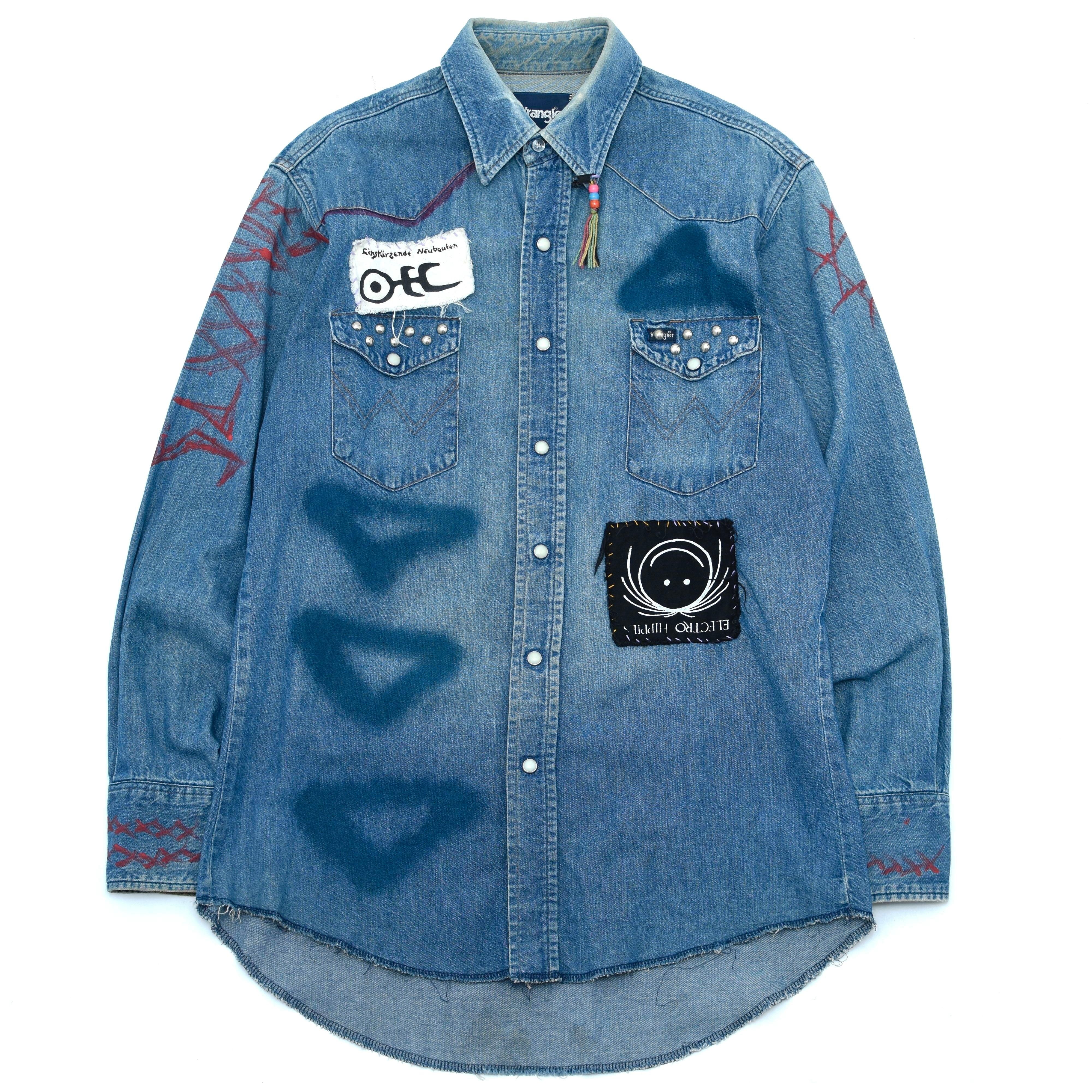 90's Wrangler custom denim western shirt
