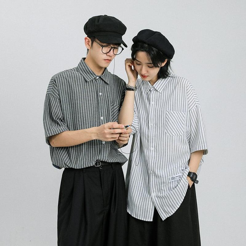 ハーフストライプシャツ YH7815