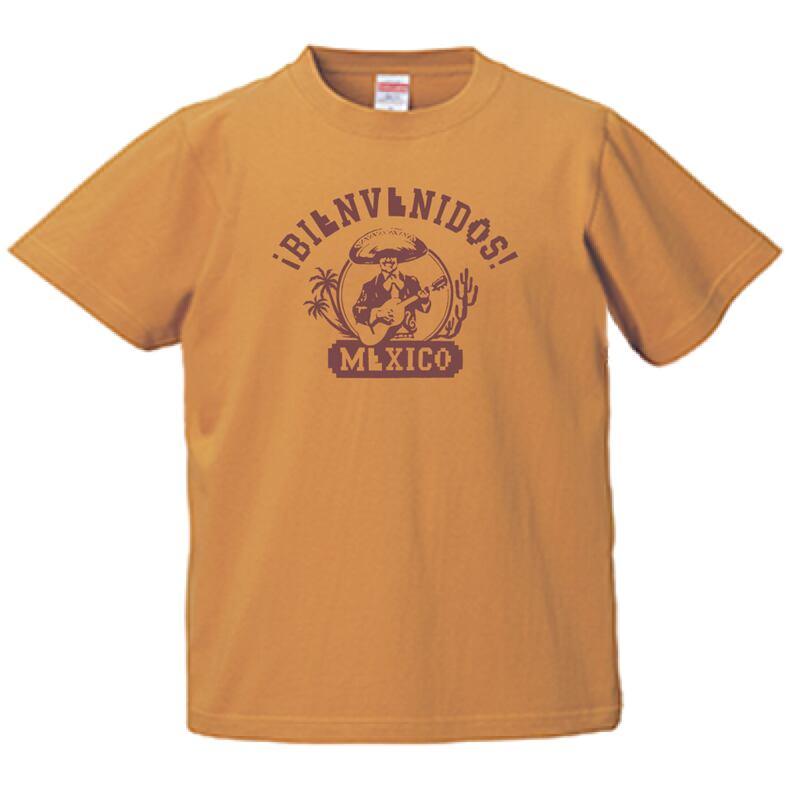 BIENVEBIDOS MEXICO T-SHIRTS CAMEL メキシコへようこそ! スペイン語 キャメル T-シャツ メキシコ