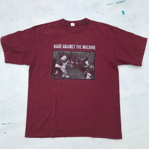 90's RAGE AGAINST THE MACHINE レイジアゲインストザマシーン 1997 TOUR Tシャツ