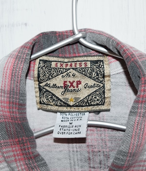 USED CHECK SHIRT -Made in USA-