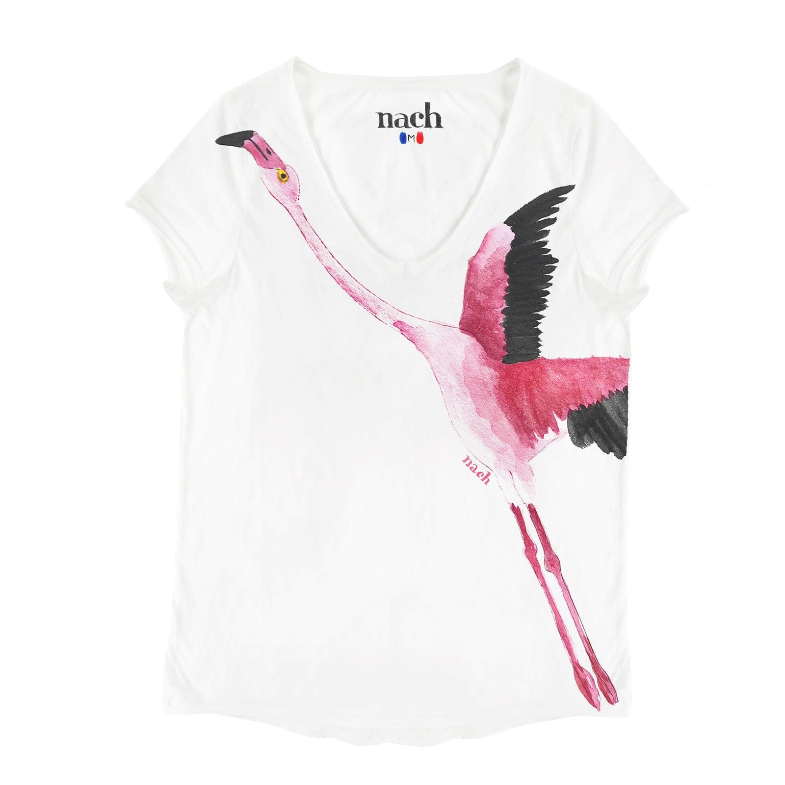 ナッシュ Tシャツ フラミンゴ
