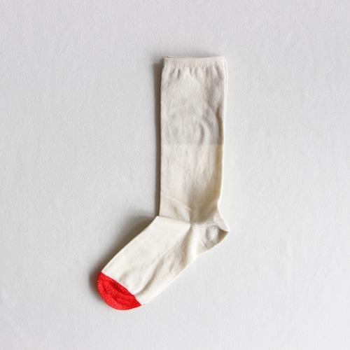 《suis moi》3 tone regular socks / white / ladies