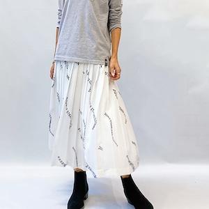 DOUBLE STANDARD CLOTHING(ダブルスタンダードクロージング) ESSENTIAL / オリジナルプリントプリーツスカート 2021秋冬物新作[送料無料]