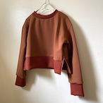 【hippiness】sidezip long sleeve(brown)/【ヒッピネス】サイドジップロングスリーブ(ブラウン)