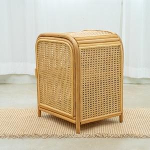 natural rattan 2tier shelf / ナチュラル ラタン 2段 シェルフ サイドテーブル 韓国 バリ 収納 家具