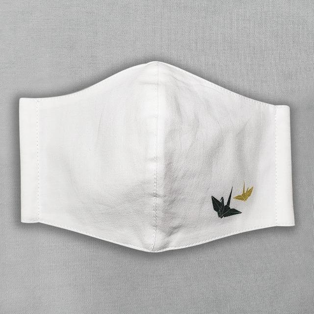 ワンポイントマスク|折り鶴