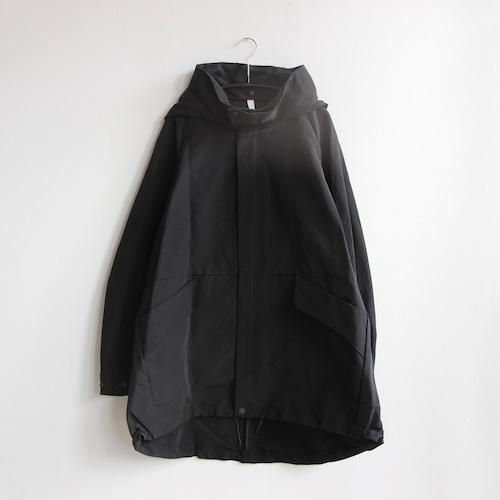 《MOUNTEN. 2021AW》60/40 grosgrain coat /  black / size0(145-155cm程度)