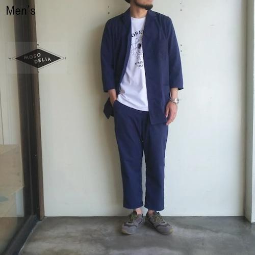 MOSODELIA シアサッカーセットアップ  Sleeping Shirts 17SS-S-003 / Sleeping Pants 17SS-B-003 (NAVY)