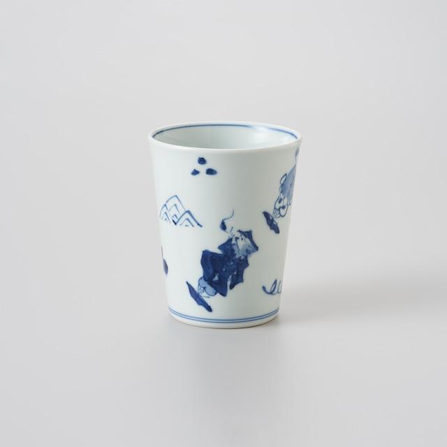 """【青花】""""異人づくし"""" ミルクカップ[大]"""