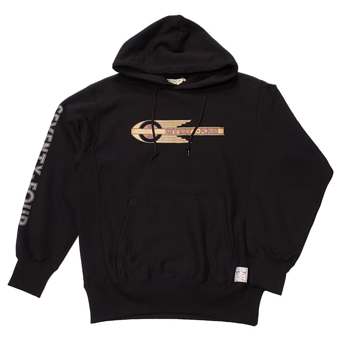 SEVENTY FOUR(セブンティーフォー) /  SIDE PANNEL PULLOVER SWEAT HOODIE(BLACK)(STF20FW11)(スウェットパーカー)