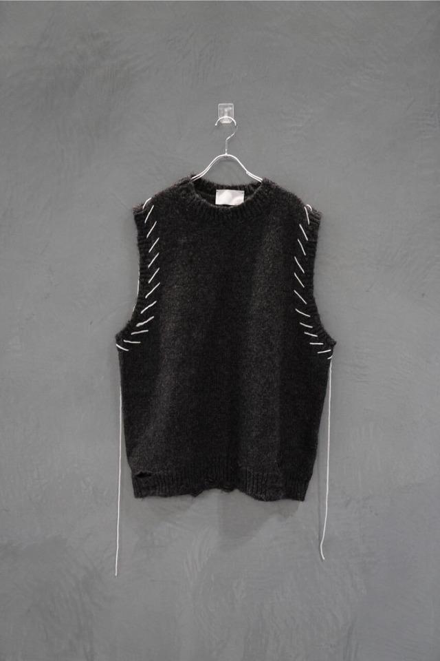 ℃℃℃ damage Knit vest
