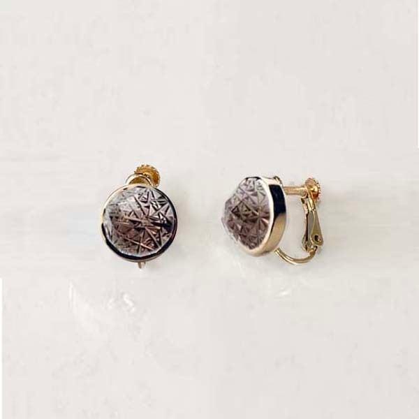 Smoky Quartz KIRIKO Earrings (Round)