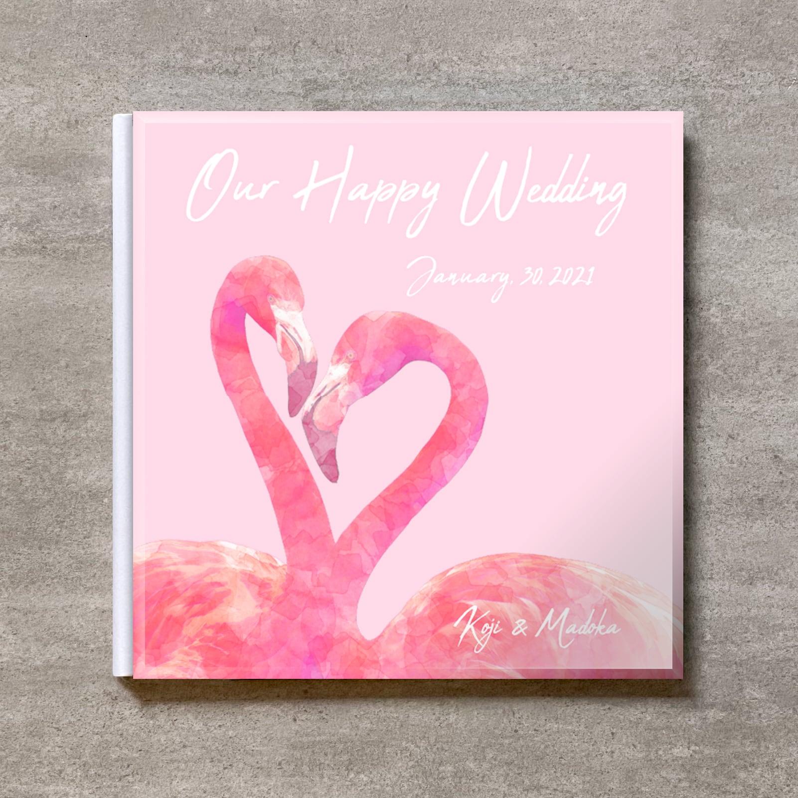 Pink Flamingo_A4スクエア_10ページ/20カット_クラシックアルバム(アクリルカバー)