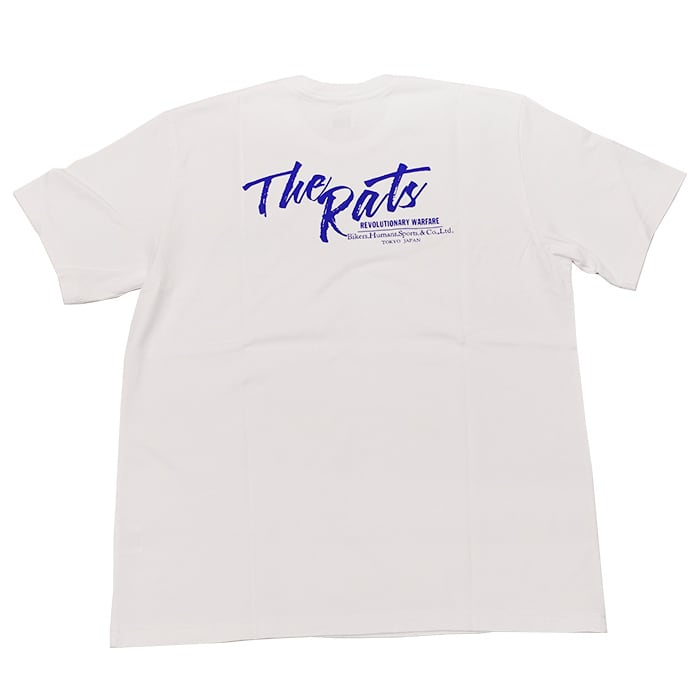 RATS(ラッツ) / The Rats TEE(WHITE×BLUE)(21'RT-0502)(Tシャツ)
