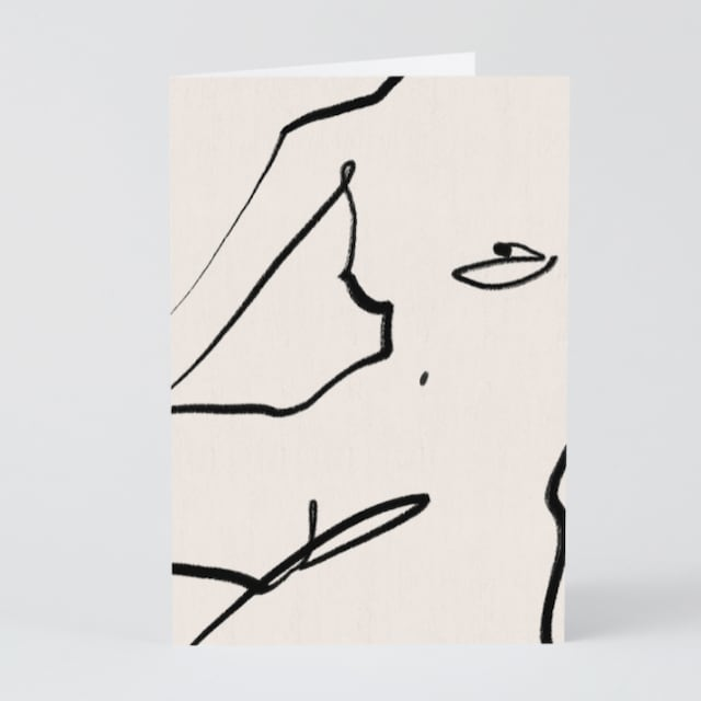 WRAP / Nude on White ART CARD - Illustrated by Kit Agar-