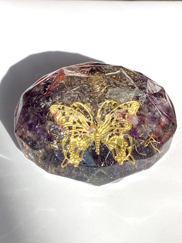 ダイヤモンドカット~バタフライ~【アメジスト・シトリン・水晶】強力な浄化・金運・健康・恋愛・全体運に