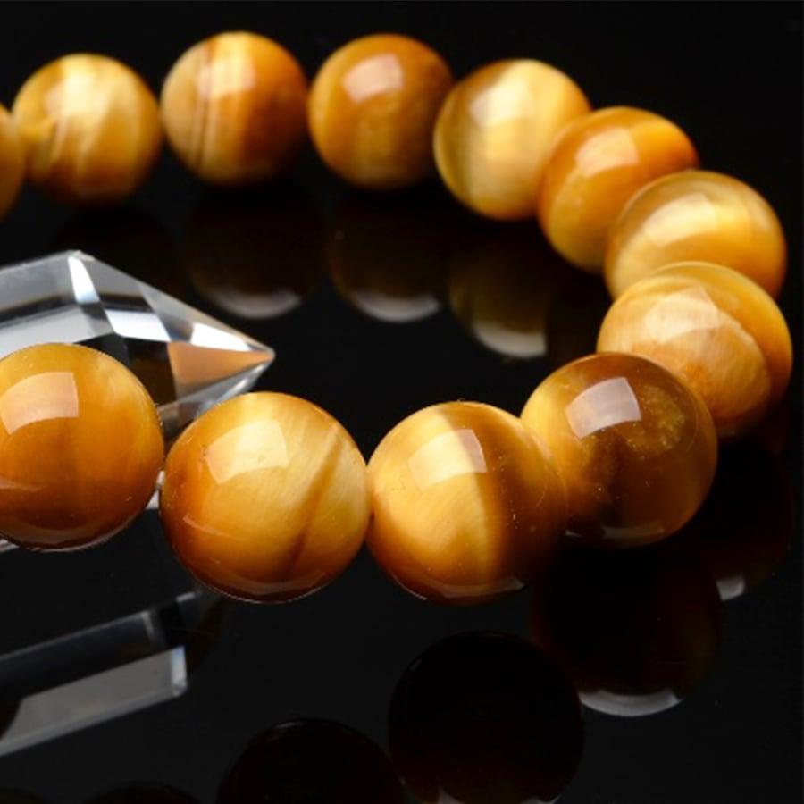 【幸運を招く大人気の石】★天然石ゴールデンタイガーアイ・ブレスレット(10mm)★